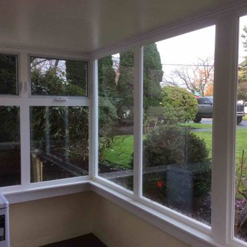 Newly installed house windows